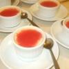 קרם בורלה  עם קולי תותים